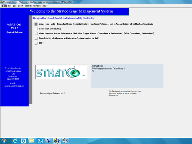 Gage Management software 4