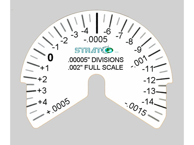 Moore Air Gage Dial 50u in B with Stratco Logo